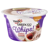 Yoplait Greek Yogurt 100 Calorie Whips Strawberry Cheesecake