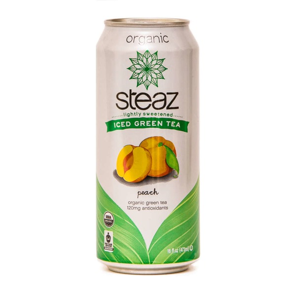 Steaz Organic Iced Green Tea, Peach