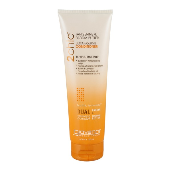 2chic Ultra-Volume Conditioner for Fine, Limp Hair Tangerine & Papaya Butter