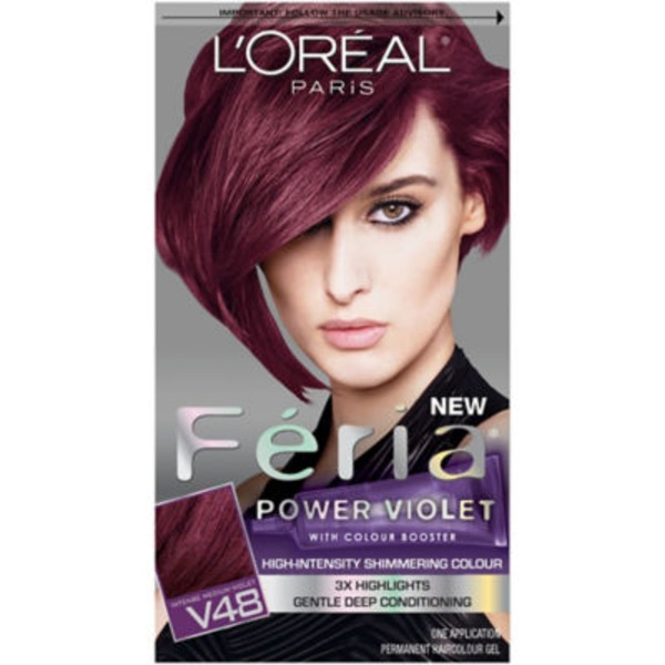 Feria Power Violet V48 Intense Medium Violet Hair Color