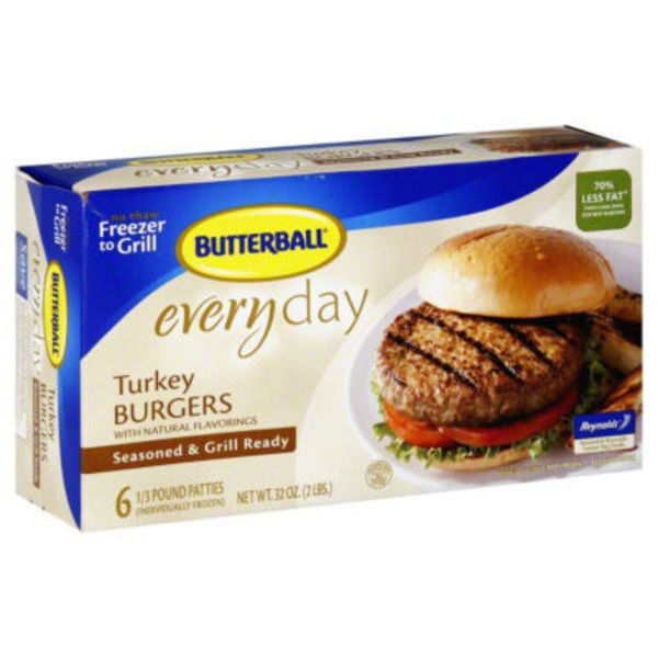 Butterball Everyday Original Seasoned Turkey Burgers