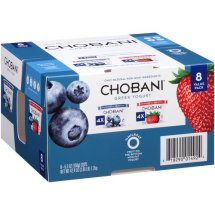 Chobani Blueberry/Strawberry Non-Fat Greek Yogurt, 5.3 oz, 8 ct