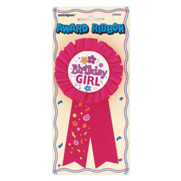 Unique Birthday Girl Award Ribbon
