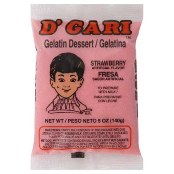 D'Gari Gelatin Dessert Strawberry