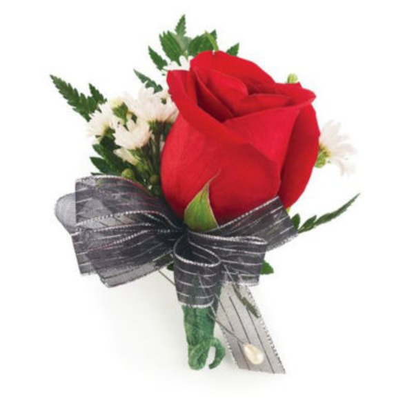 Floral Single Rose Corsage Traditional