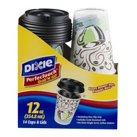 Dixie PerfecTouch Grab' N Go Cups & Lids - 14 CT