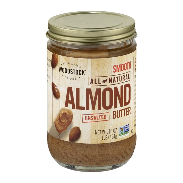 Woodstock Farms Smooth All Natural Almond Butter Unsalted