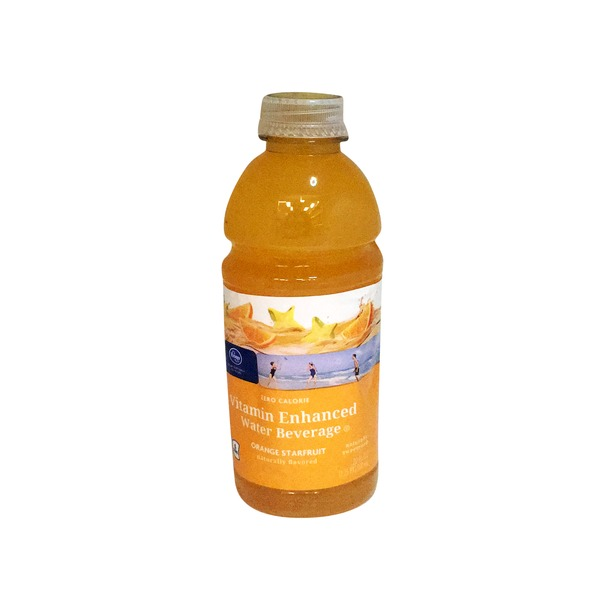 Kroger Orange Starfruit Sparkling Vitamin Enhanced Water Beverage