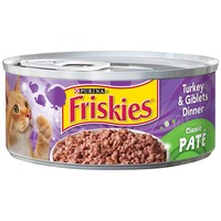 Friskies Pate Turkey & Giblets Dinner Cat Food