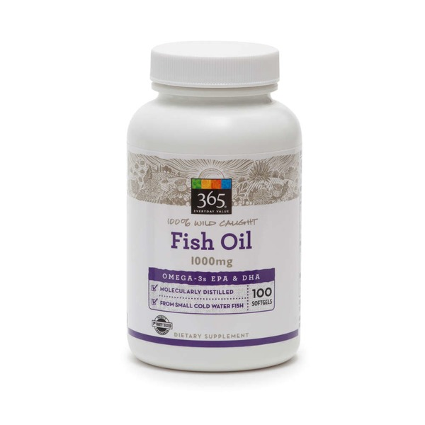 365 Fish Oil 1000 Mg Softgels