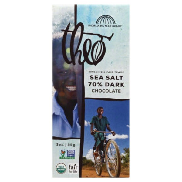 Theo Organic Sea Salt 70% Dark Chocolate