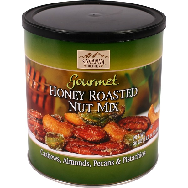 Savanna Orchards Honey Roasted Nut Mix 30 Ounce Container