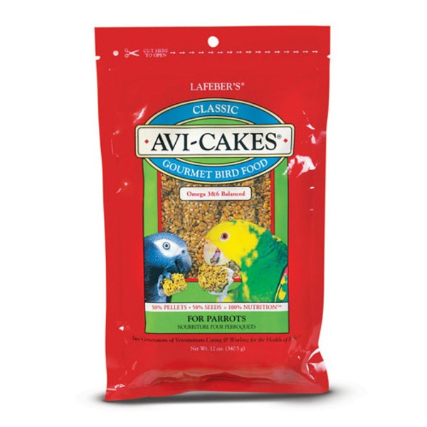 Lafeber's Classic Avi Cakes Gourmet Bird Food For Parrots