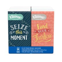 Kleenex Go Pack Facial Tissues, White, 10 Sheets/Box, 8 Ct