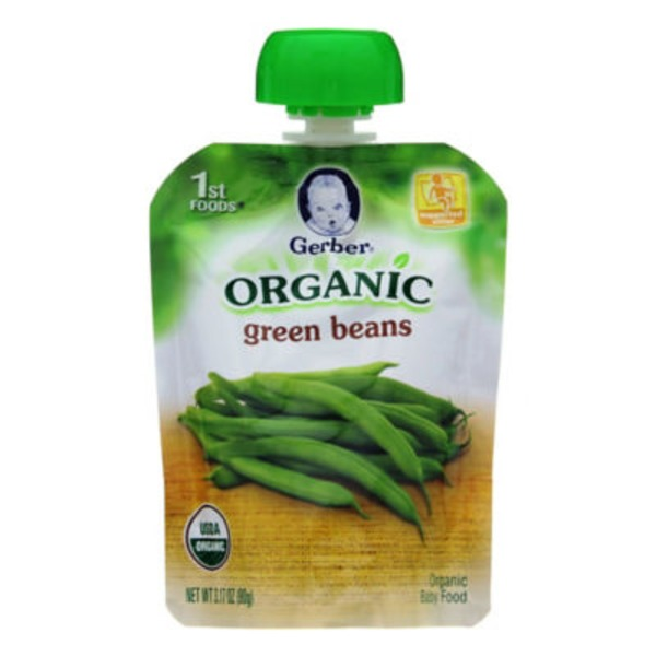 Gerber Organic 1 St Foods 1F Organic Green Beans Organic Purees Vegetable