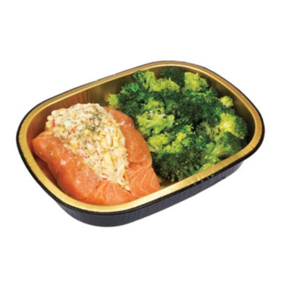 H-E-B Simply Cook Stuffed Salmon With Broccoli