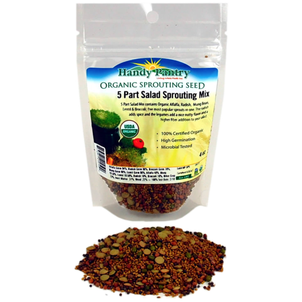 Handy Pantry 5 Part Salad Sprouting Mix