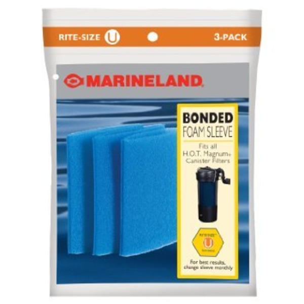 Marineland Rite Size Bonded Filter Sleeve Three Pack For Hot Magnum
