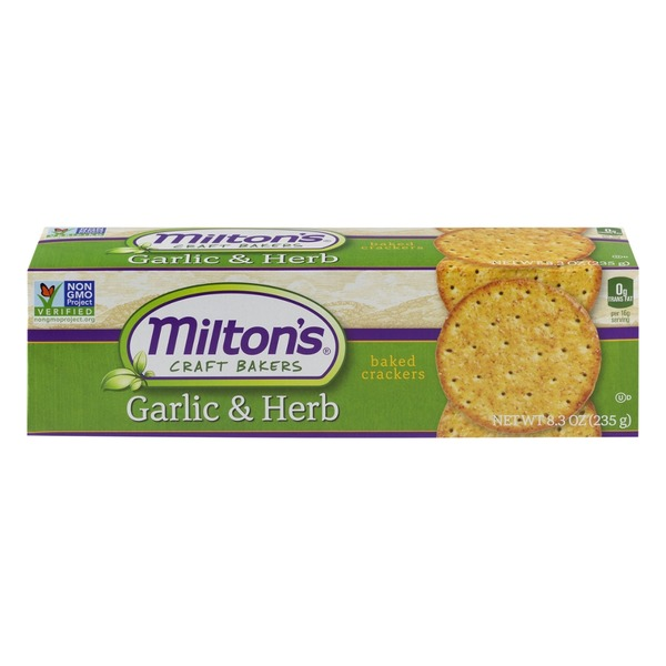 Milton's Roasted Garlic and Herb Crackers