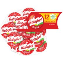 Mini Babybel Original Semisoft Cheeses, 0.75 oz, 12 count