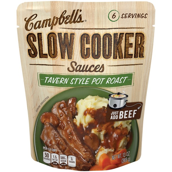 Campbell's Dinner Sauces Tavern Style Pot Roast Slow Cooker Sauces