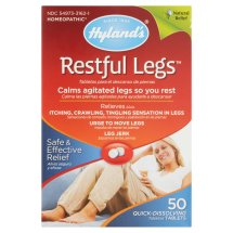 Hyland's Restful Legs Tablets, Natural Relief of Itching, Crawling, Tingling and Leg Jerk, 50 Count