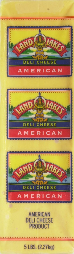 Land O Lakes Pasturized Yellow American Cheese Deli Sliced