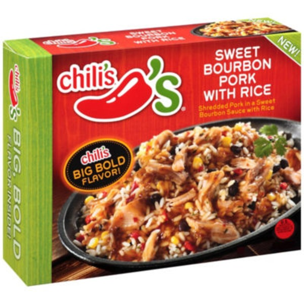 Chili's Sweet Bourbon Pork with Rice Frozen Dinner