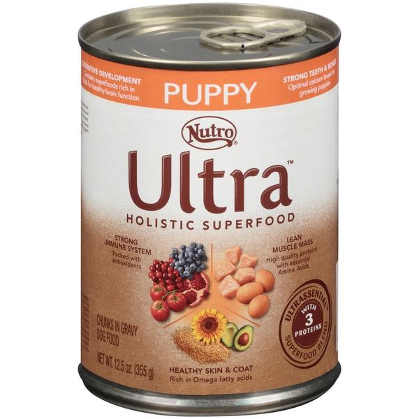 Nutro Ultra Puppy Holistic Superfood Chunks in Gravy Dog Food