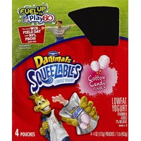 Dannon Danimals Squeezables Yogurt Lowfat Cotton Candy - 4