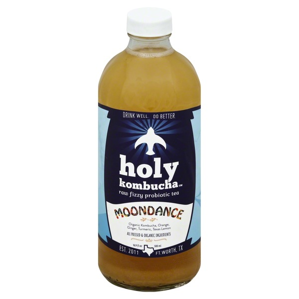 Holy Kombucha Tea, Raw Fizzy Probiotic, Moondance