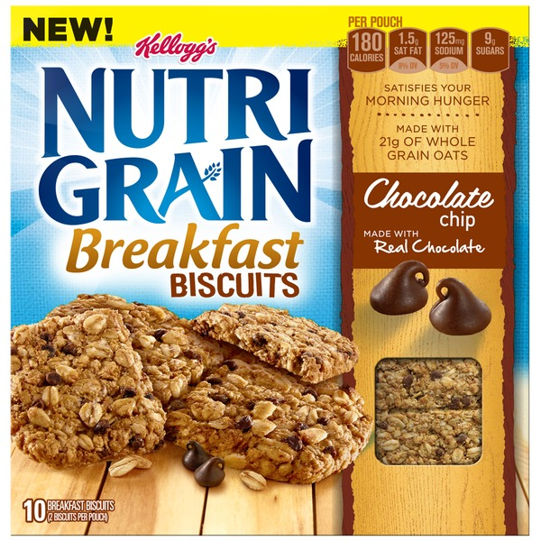 Kellogg's Nutri-Grain Chocolate Chip Breakfast Biscuits
