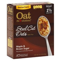 Better Oats Oat Revolution Steel Cut Maple & Brown Sugar with Flax Instant Oatmeal