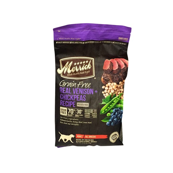 Merrick Grain Free Real Venison & Chickpeas Recipe Dog Food