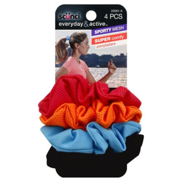 Scunci Sporty Mesh Ponytailers
