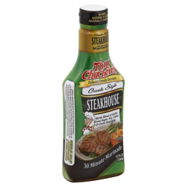 Tony Chachere's Marinade, Creole Style Steakhouse, Bottle