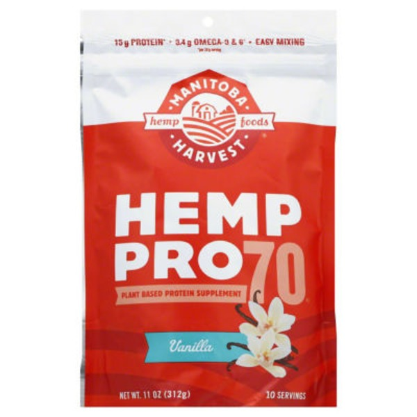 Manitoba Harvest Hemp Pro 70 Plant Based Protein Supplement Vanilla