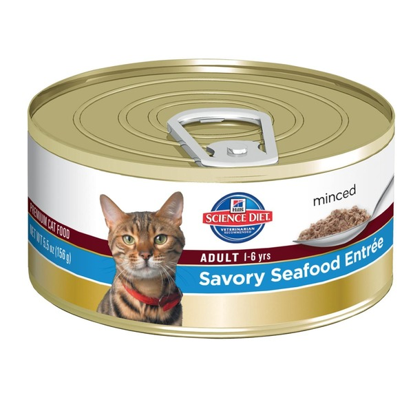 Hill's Science Diet Cat Food, Adult, Savory Seafood Entree, Minced