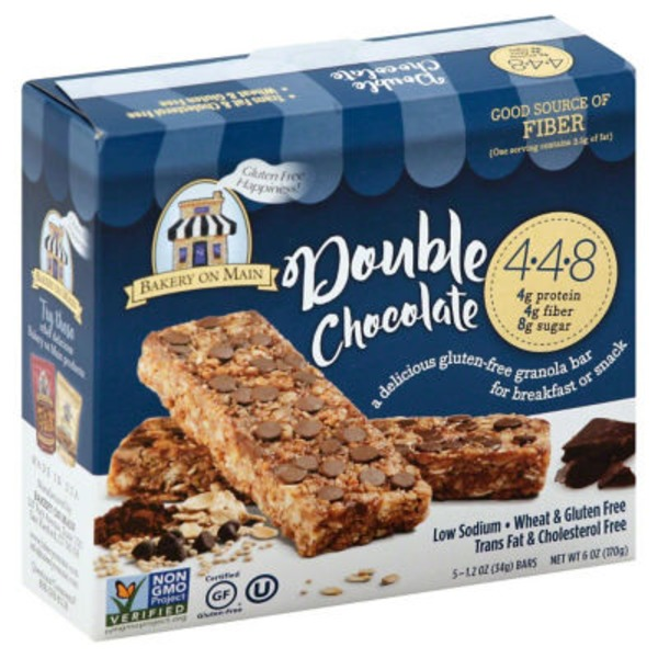 Bakery on Main Double Chocolate Gluten-Free Granola Bar - 5 CT