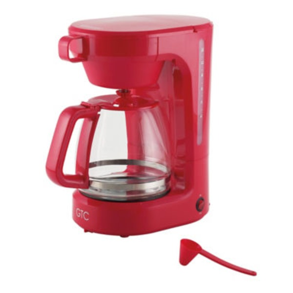 GTC Red 12 Cup Coffee Maker