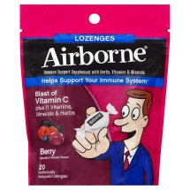 Airborne Berry Flavored Lozenges, 20 count - 1000mg of Vitamin C - Immune Support Supplement