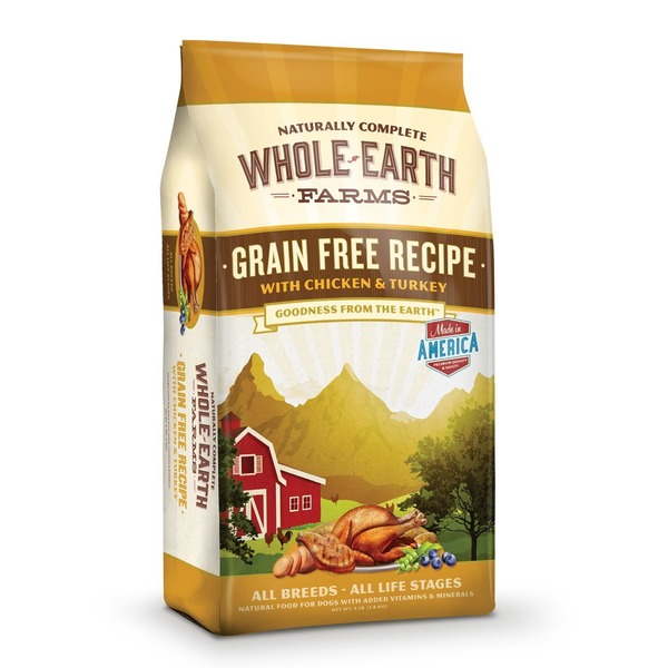 Whole Earth Farms Grain Free Recipe Chicken & Turkey All Breeds - All Life Stages Natural Food for Dog