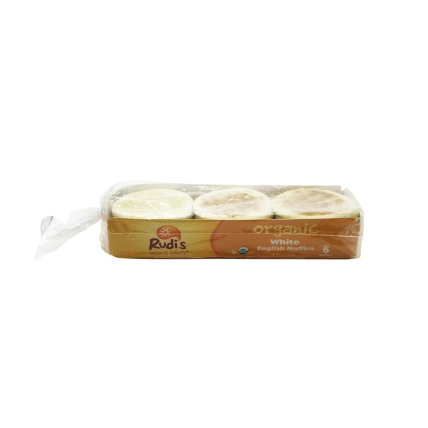 Rudis Organic White English Muffins 6 Ct