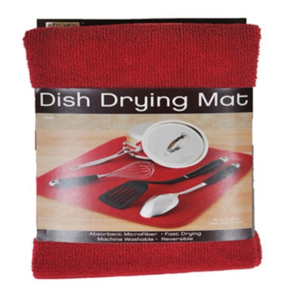 Kitchen Basics Dish Drying Mat Red