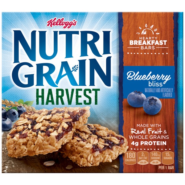 Kellogg's Nutri-Grain Harvest Blueberry Bliss Breakfast Bars