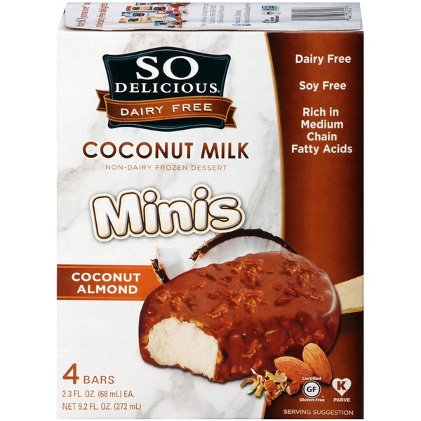 So Delicious Dairy Free Minis Coconut Almond Coconut Milk Bars