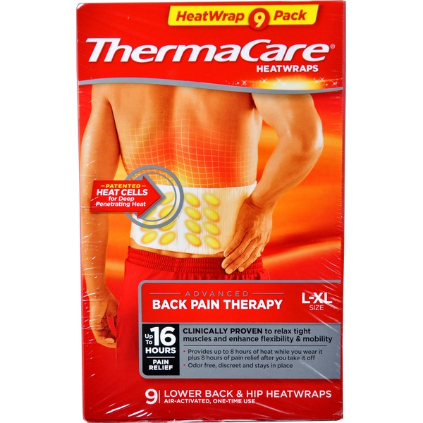 ThermaCare Heatwraps Deep Muscle Relief Back