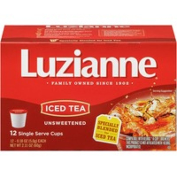 Luzianne Unsweetened Iced K-Cup Pods Tea