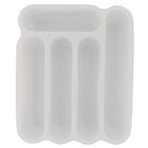 Sterilite 5 Compartment Cutlery Tray White