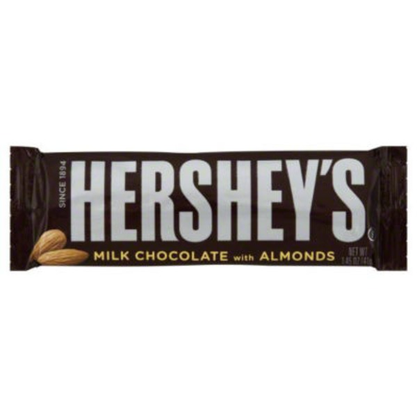 Hershey Milk Chocolate with Almonds Candy Bar
